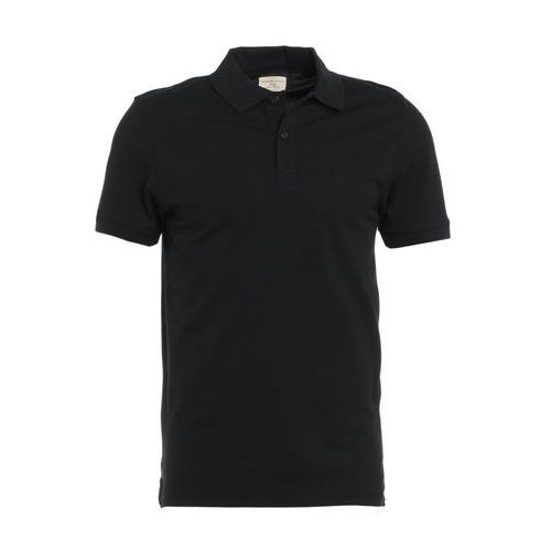 Selected Homme SHDARO EMBROIDERY Koszulka polo black, kolor czarny