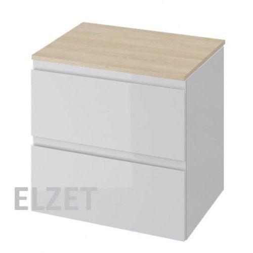 CERSANIT szafka Moduo szary połysk pod umywalkę nablatową + blat 60 S929-009+S590-022