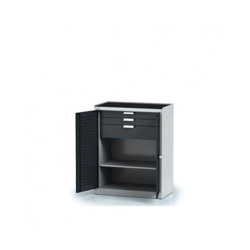 Alfa 3 Szafa warsztatowa - 1 półka, 3 szuflady