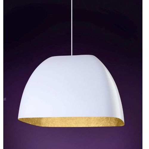 Lampa wisząca  alwa l biała złota do kuchni marki Sigma