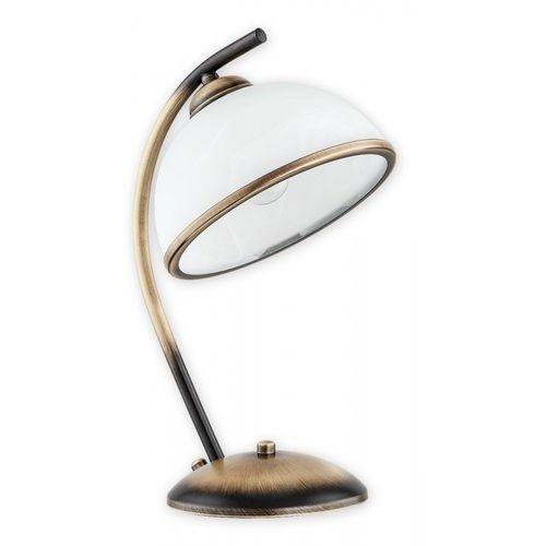 Lemir Altea O2238 L1 PAT lampka stołowa 1x60W E27 patyna / biały (5902082867258)