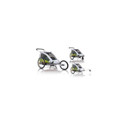 Przyczepka rowerowa dla dzieci XLC BS C03 DUO2, 3w1 buggy + jogger zielona