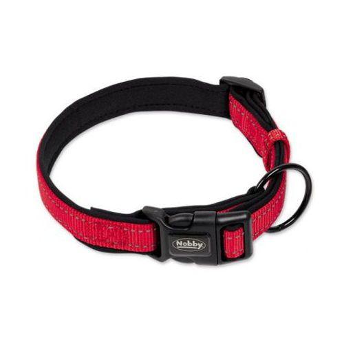 Nobby Obroża Reflect Soft 25mm/40-55cm czerwona - produkt z kategorii- Obroże dla psów