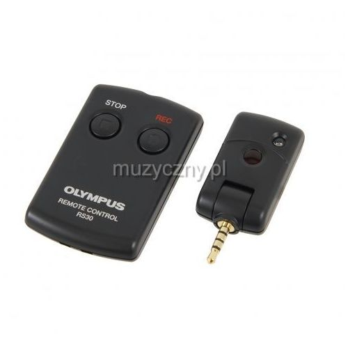 rs30w zdalne sterowanie na podczerwień dla rejestratorów z serii ls, dm-650/-670, 2 przyciski (rec & stop) marki Olympus