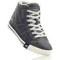 Bonprix Wysokie sneakersy mustang antracytowy