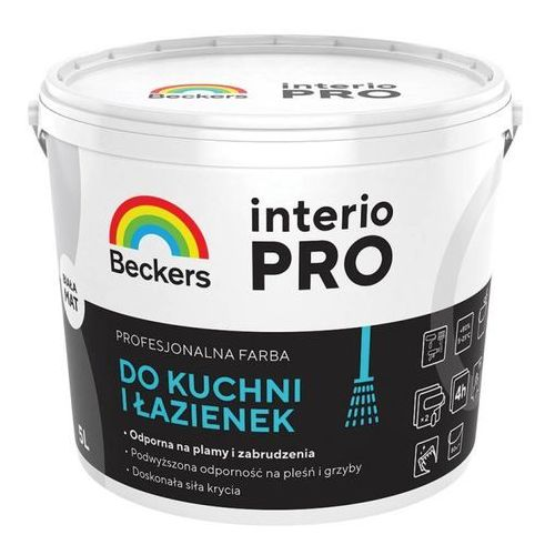 Beckers Farba interio pro do kuchni i łazienek biała 5 l