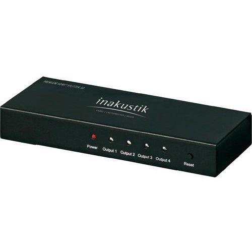 Inakustik Splitter hdmi  004245114, 4 porty, obsługa ultra hd, obsługa obrazu 3d, 3840 x 2160 px