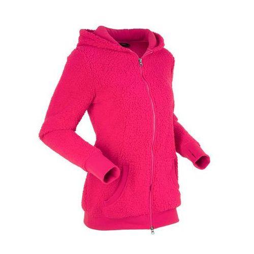 """Bluza z polaru """"baranek"""", długi rękaw różowoczerwony, Bonprix, 40-54"""