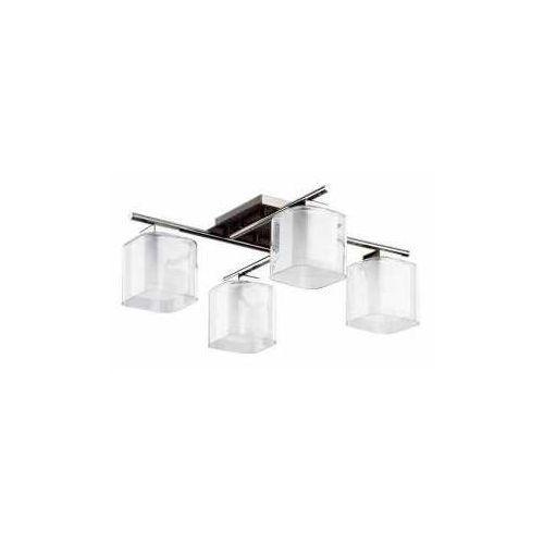 Lampa wisząca Alfa Square 16334.02 zwis 4x40W E14 chrom/biała/wenge (5900458163348)