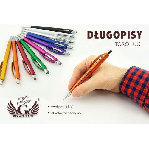 Długopisy plastikowe TORO LUX - druk UV