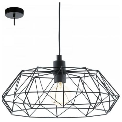 lampa wisząca CARLTON 2 - czarna, EGLO 49487