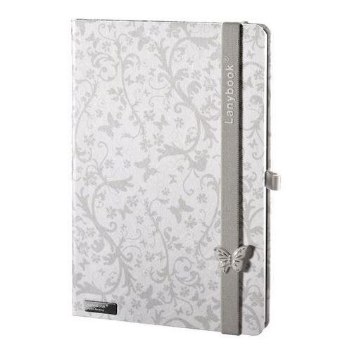 Lediberg Notatnik a6 lanybook butterfly spirit biały