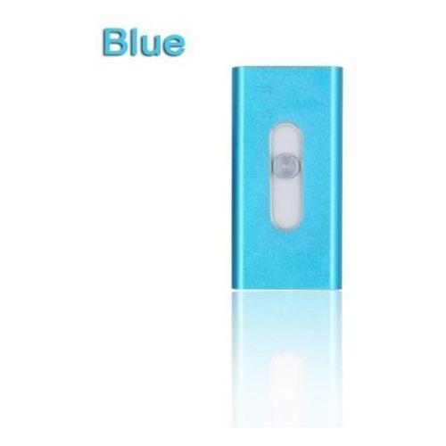 Micro usb + otg usb dla iphona (niebieski, 128gb) - niebieski \ 128 gb marki E-webmarket