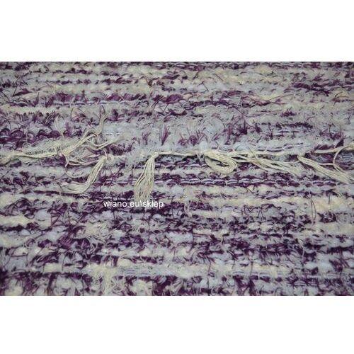 Chodnik bawełniany ręcznie tkany wiśniowo-ecru 65x150 cm marki Twórczyni ludowa