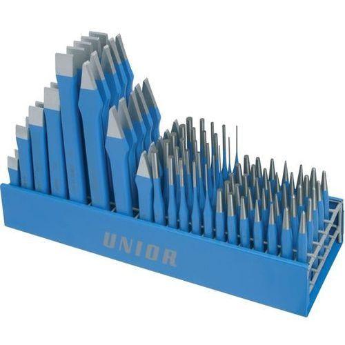 Zestaw dłut i punktaków  na metalowym stojaku 675 / 100 sztuk + darmowy transport! marki Unior