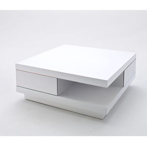 MCA ABI - Stolik kawowy z szufladami, 85x85 cm