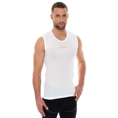 Koszulka unisex typu base layer bez rękawów biały xl marki Brubeck