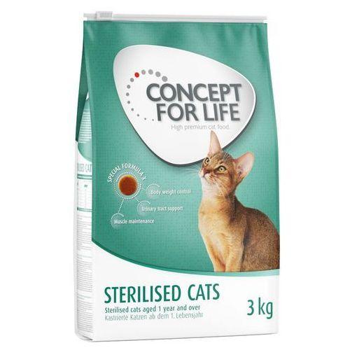 Concept for life 3 kg + 24 x 85 g karmy mokrej w sosie - sterilised cats