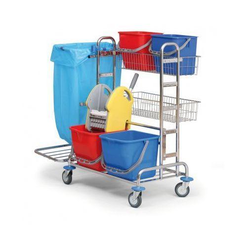 Profesjonalny dwuwiadrowy wózek do sprzątania
