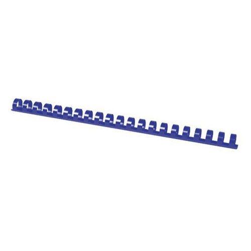 Grzbiety do bindowania OFFICE PRODUCTS, A4, 14mm (125 kartek), 100 szt., niebieskie