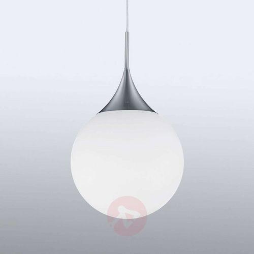 Trio Lampa wisząca midas 301600107 szklana oprawa zwis kula ball biała