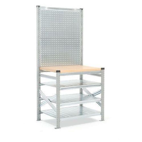 Stół roboczy transform, z panelem narzędziowym, moduł podstawowy, 1972/916x900x600 mm marki Aj produkty