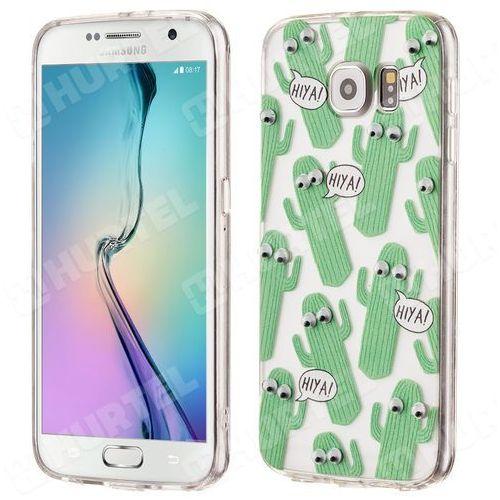 Żelowy pokrowiec etui oczy Googly Eyes Samsung Galaxy S6 G920 kaktusy przezroczysty - kaktusy, kup u jednego z partnerów