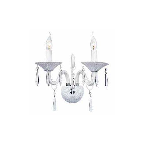 Spotlight Świecznikowa lampa ścienna rosano 5193202 kinkiet oprawa glamour z kryształkami crystal maria teresa biała (5901602300176)