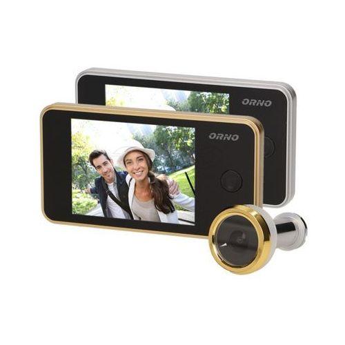 """Kamera do drzwi, WIZJER, JUDASZ, monitor LCD 3,2"""", srebrny, OR-WIZ-1104/G"""