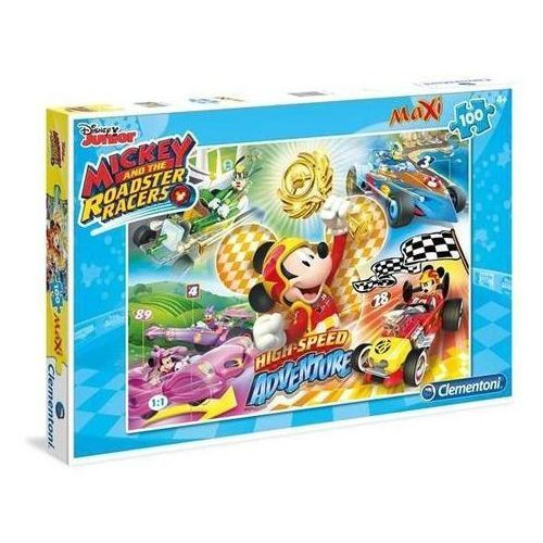 100 elementów MAXI Special Line Mickey and the Roadster Racers