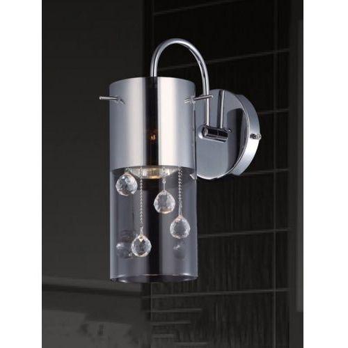 Italux Kinkiet lampa ścienna cordell mbm1835-1 kryształkowa oprawa tuba crystal chrom przezroczysta