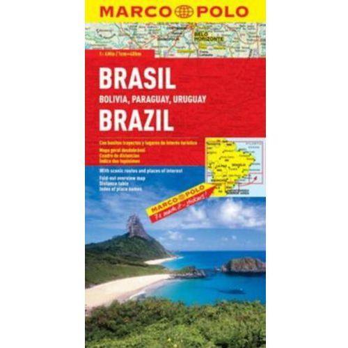 Brazylia. Mapa samochodowa, składana 1:4 000 000. Marco Polo.