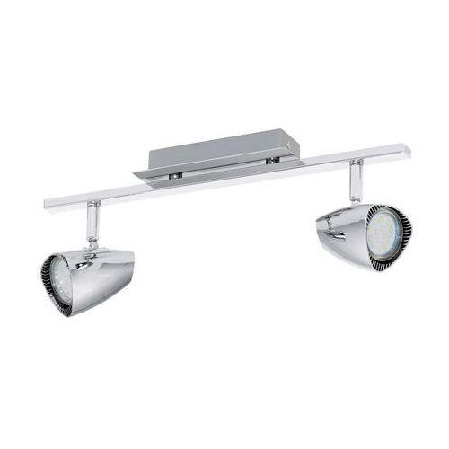 Eglo Plafon lampa sufitowa listwa spot corbera 2x3w gu10 led chrom 93673 (9002759936730)