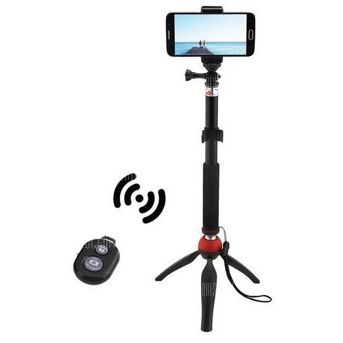 Mini tripod mount selfie stick bluetooth shutter holder marki Gearbest