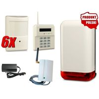 Bezprzewodowy zestaw alarmowy elmes, 6 x czujnik, gsm, sygnalizator marki Elmes electronic