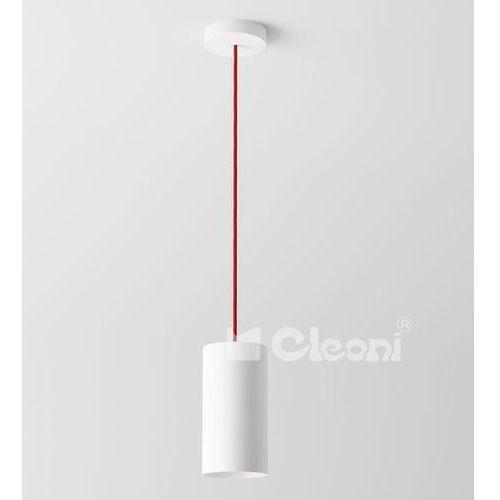 Cleoni Lampa wisząca certo b1a z czerwonym przewodem żarówka led gratis!, 1291b1a+