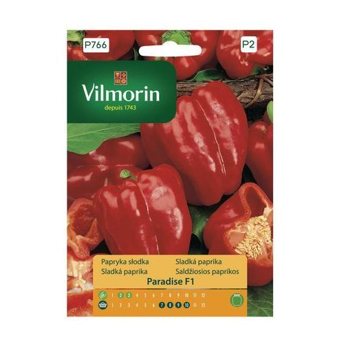 Papryka słodka PARADISE nasiona tradycyjne 0.5 g VILMORIN (5907617322578)