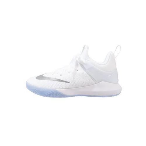 Nike Performance ZOOM SHIFT Obuwie do koszykówki white/metallic silver/wolf grey