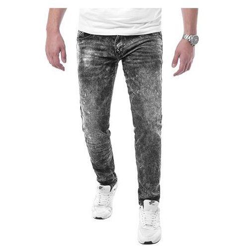 Spodnie męskie jeansowe SM735 - czarne, jeansy