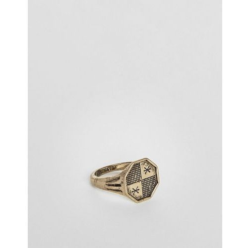 Classics 77 patterned ring in gold - gold