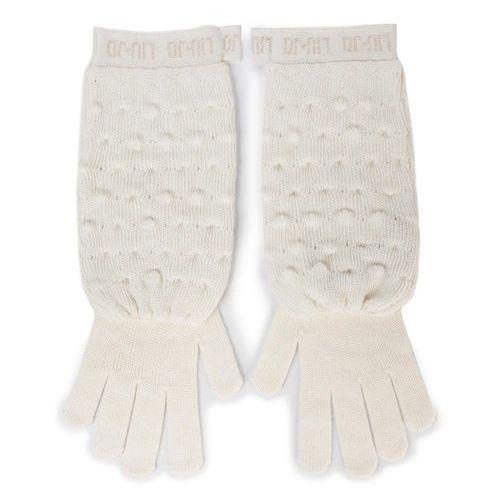 Rękawiczki damskie - guanti maglia goffra 269051 m0300 bianco iana 00086 marki Liu jo