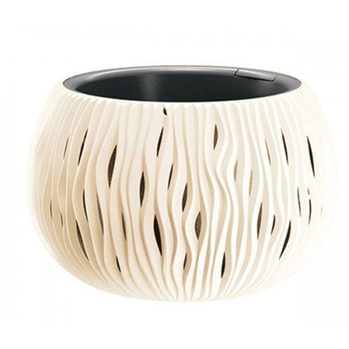 Prosperplast Doniczka z wkładem sandy bowl 29 cm krem