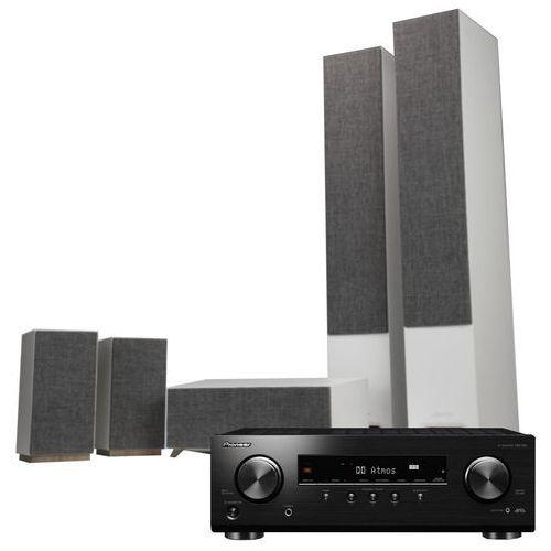 Kino domowe PIONEER VSX-534B + JAMO S 809 HCS Biały, VSX534B/S809HCS BIAŁ