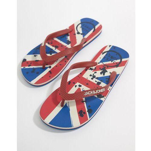 union jack flip flops - red, Jack & jones