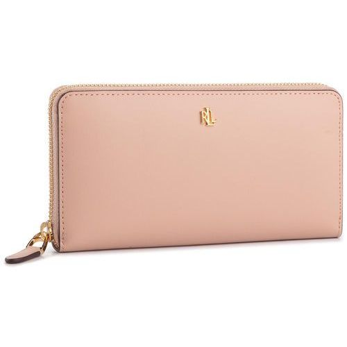 Lauren ralph lauren Duży portfel damski - zip cont wlt 432754176005 pink/porcn