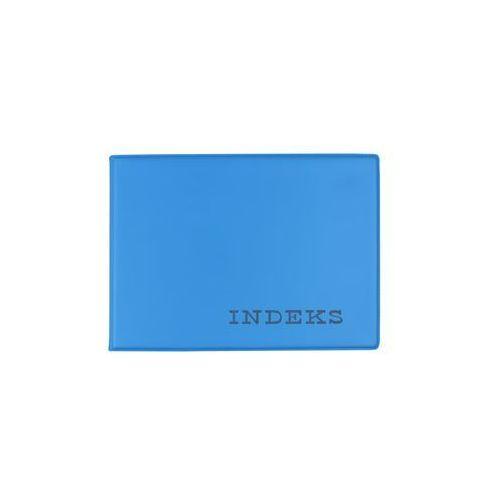 Okładka etui na indeks twarda z folii pvc niebiesk - niebieski marki Biurfol