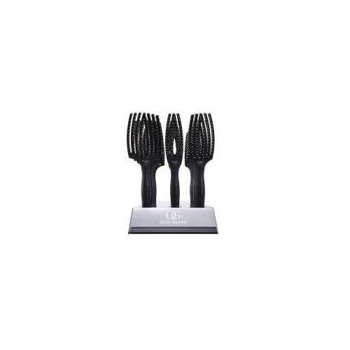 Olivia garden finger brush, zestaw szczotek, włosie dzika, display 12 szt