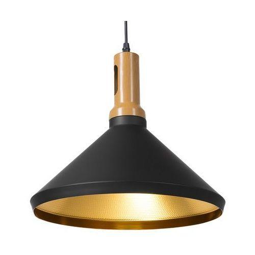 Lampa wisząca czarno-złota liard marki Beliani