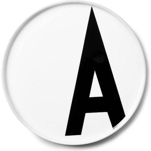 Talerz porcelanowy AJ litera A
