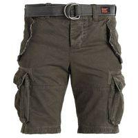 Superdry CORE CARGO HEAVY Szorty jeansowe beret green (5057101411537)